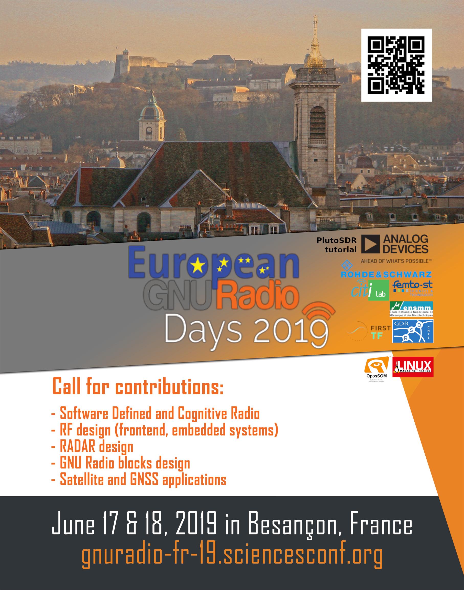 European GNU Radio Days 2019 - Sciencesconf org